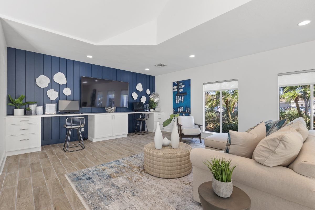 Virtually Staging Living room