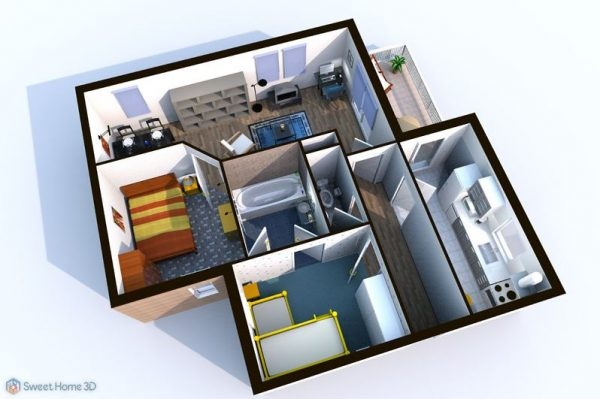 Floor plan software SweetHome 3D