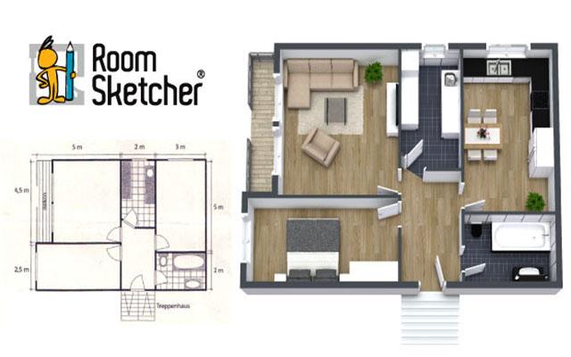 RoomSketcher floor plan software image